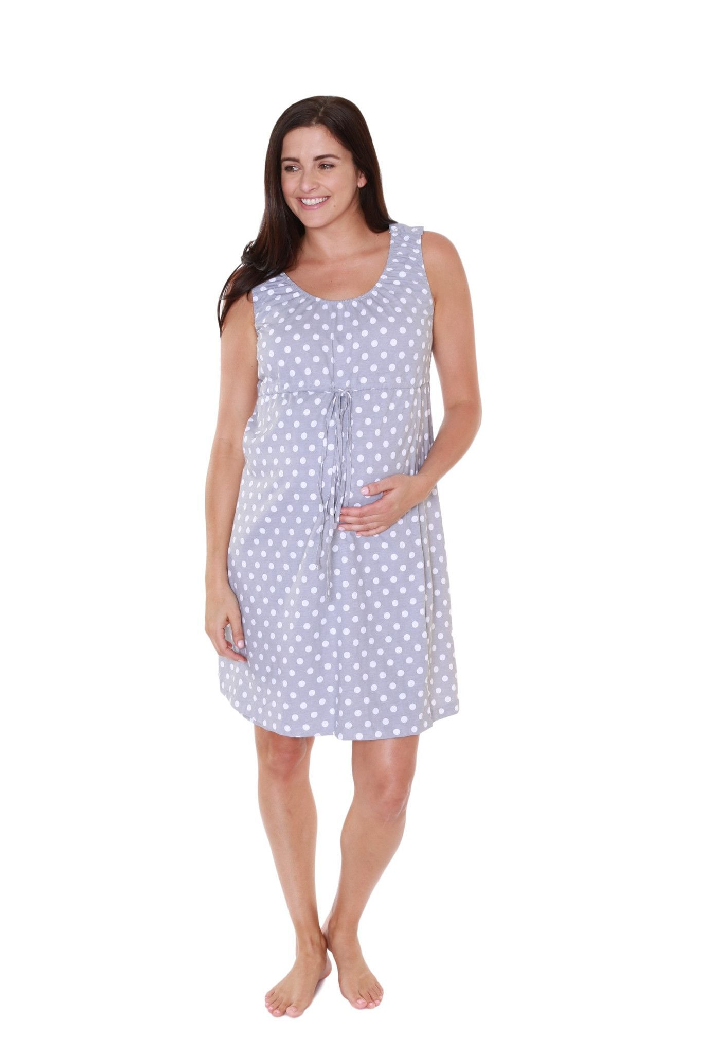 bf37be4d6d2 Lisa 3 in 1 Labor   Delivery   Nursing Birthing Hospital Gown Grey Dotted