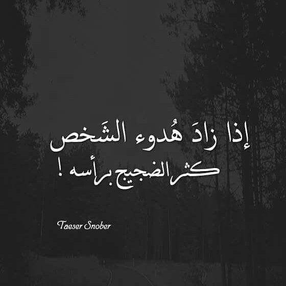 اذا زاد هدوء الشخص كثر الضجيج برأسه Words Quotes Wisdom Quotes Life Wisdom Quotes
