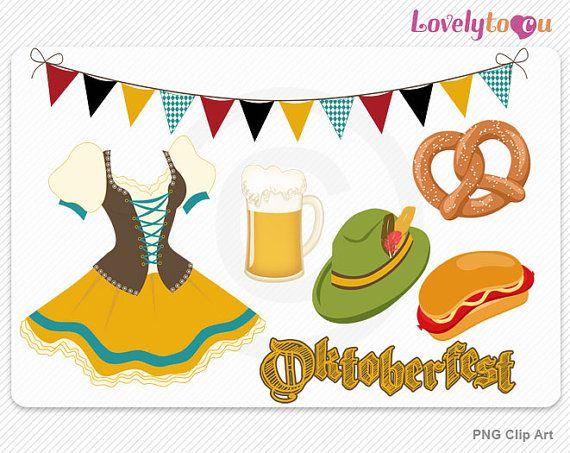 oktoberfest clipart beer pretzel frankfurter dress by lovelytocu rh pinterest co uk oktoberfest clip art free oktoberfest clip art free downloads