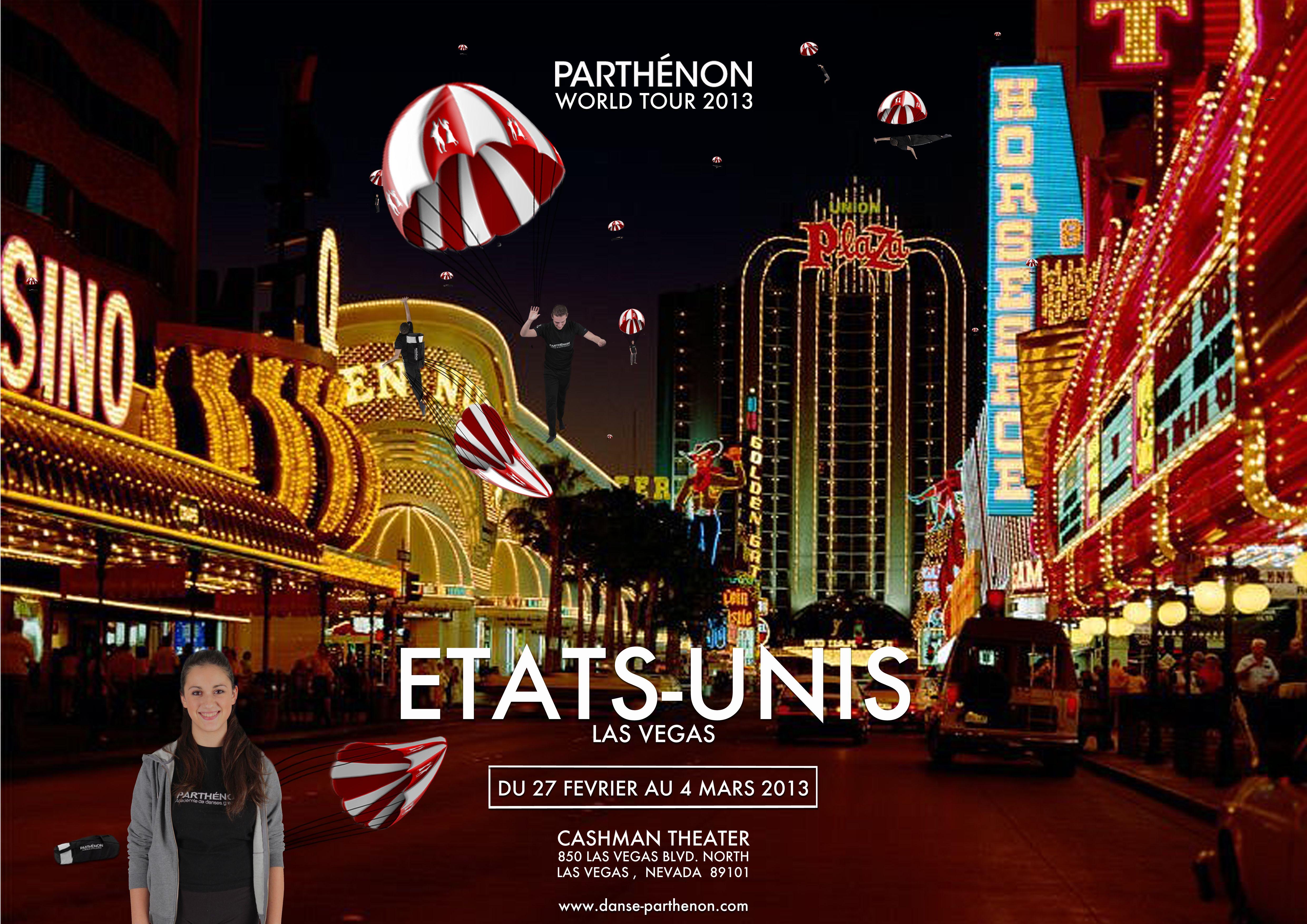 """PARTHENON I World Tour 2013  ETATS-UNIS """"LAS VEGAS""""  _    Du 27 Février au 4 Mars 2013"""