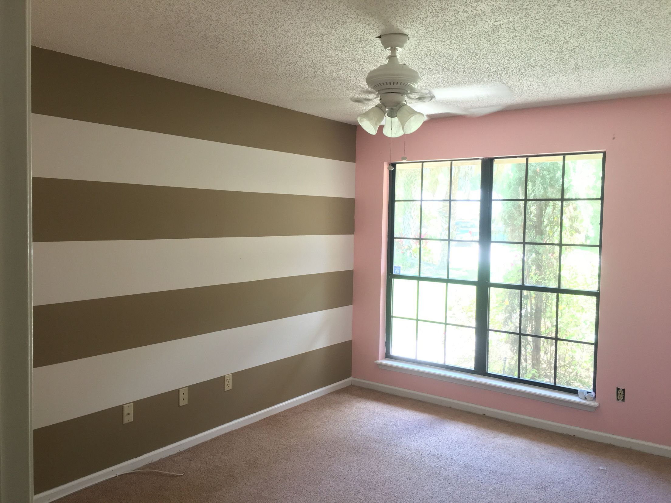 Cute Baby Girl Nursery Pale Pink Walls With A Tan And White