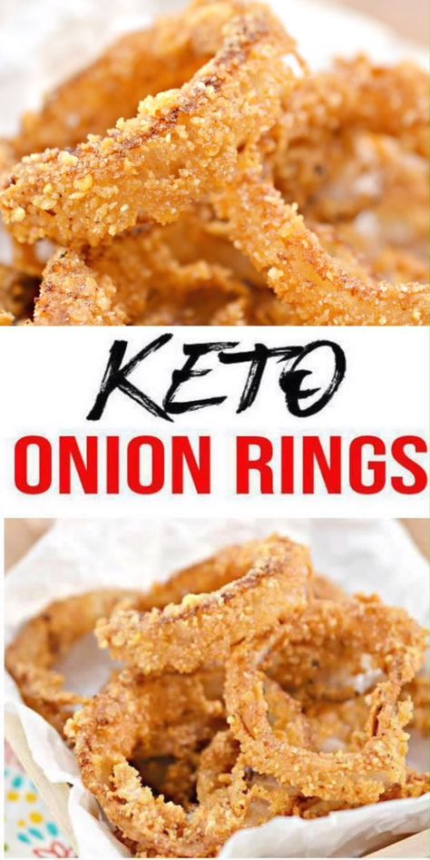 Keto Onion Rings! Low Carb Onion Rings – Ketogenic Diet Recipe – Appetizer – Side Dish – Completely Keto Friendly #dishesfordinner