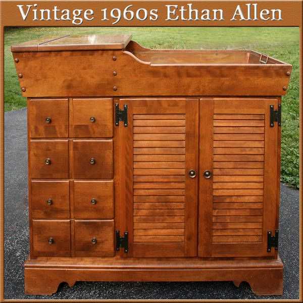 Ethan Allen Furniture Maple 1960 S 1960s Traditional Early American Dry Sink Birch