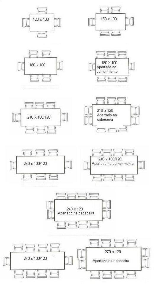 mesas e tamanhos | Mesa | Pinterest | Mesas, Comedores y Mesas de ...
