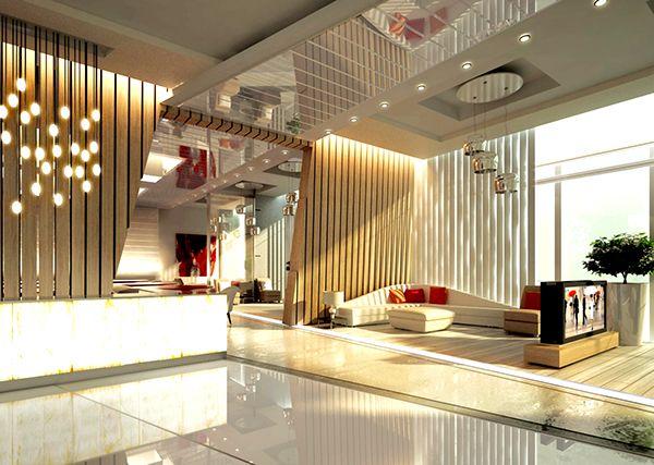 ALYAL Hotel Lobby Design on Behance | Reception Desks-Lobby ...