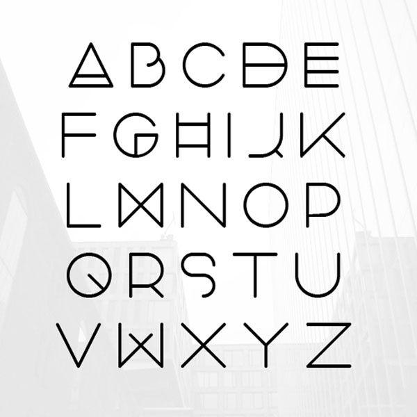 Typography Font Alphabet