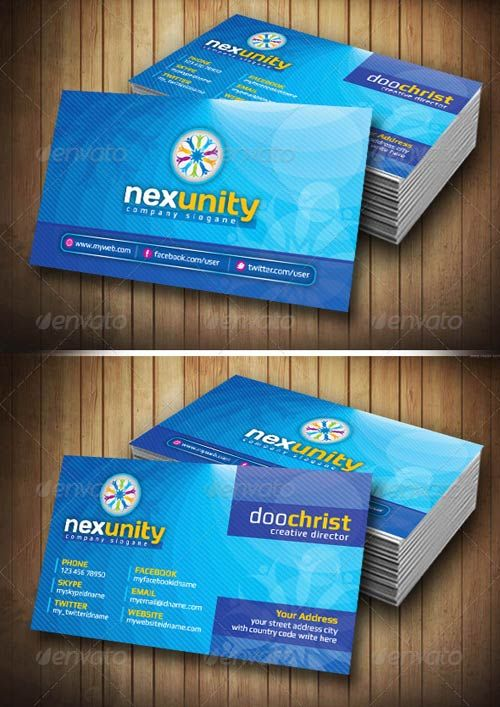 GraphicRiver Nexunity Corporate Business Card