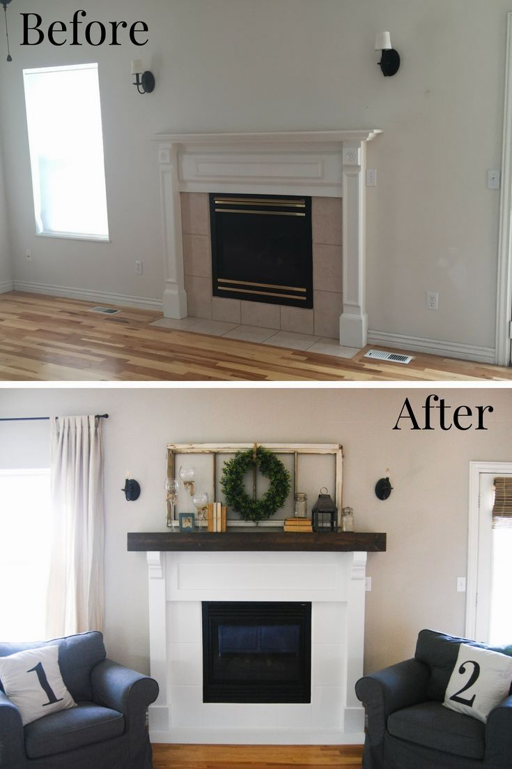 DIY Fireplace Makover Before and After Today, I get to share the story of our slow DIY Fireplace Makeover before and after pictures! When we moved into our house about 3 years ago our fireplace was the original builder grade version. If I am honest, it wasn't too bad, excluding the pink tile and brass, …