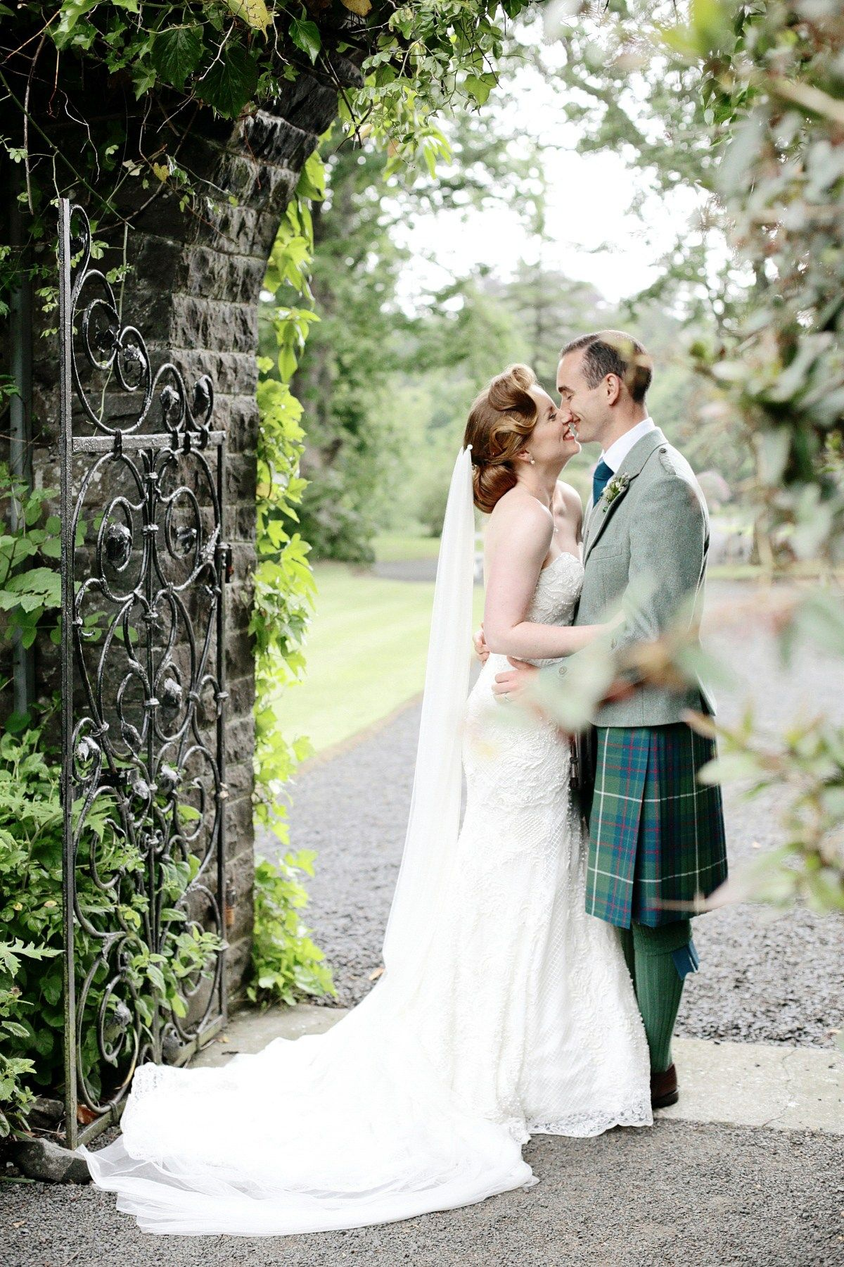 A watters gown for a walled garden and old hollywood glamour