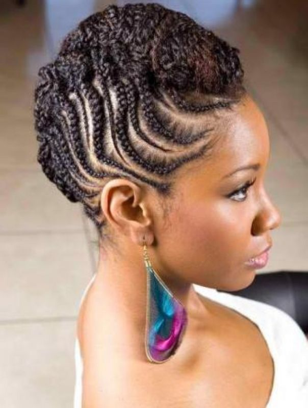Braided Mohawk Hairstyles For Black Women | hair style | Pinterest ...