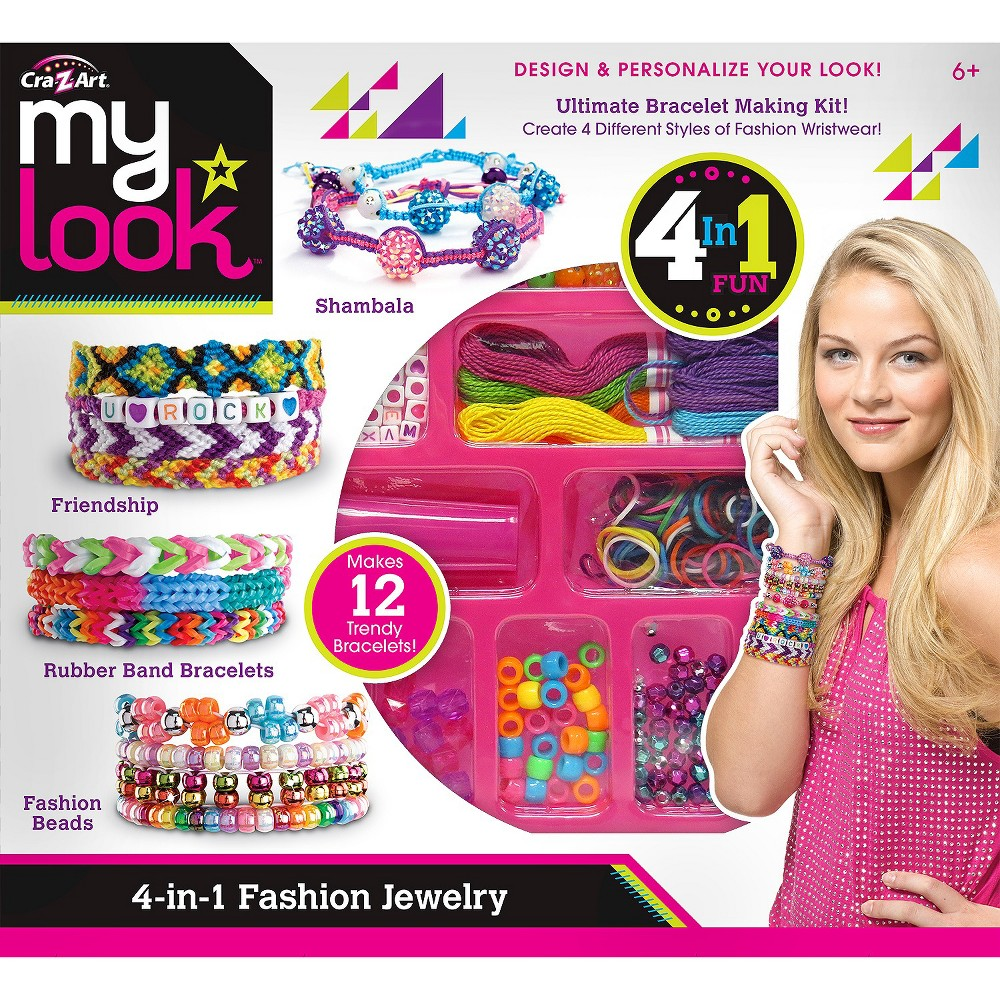 My Look 4 In 1 Jewelry Design Center By Cra Z Art Z Arts Jewelry Design Craft Accessories