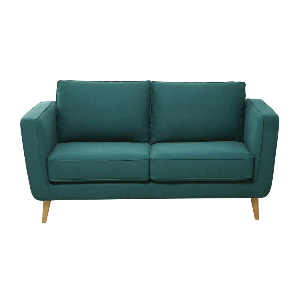 A Teal Blue Sofa Is A Great Way To Add Colour To A Living