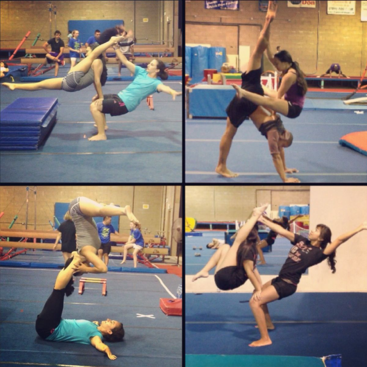 Ally Pin Up Acrobatic Gymnastics Ally Emily Dion Stephanie Balance