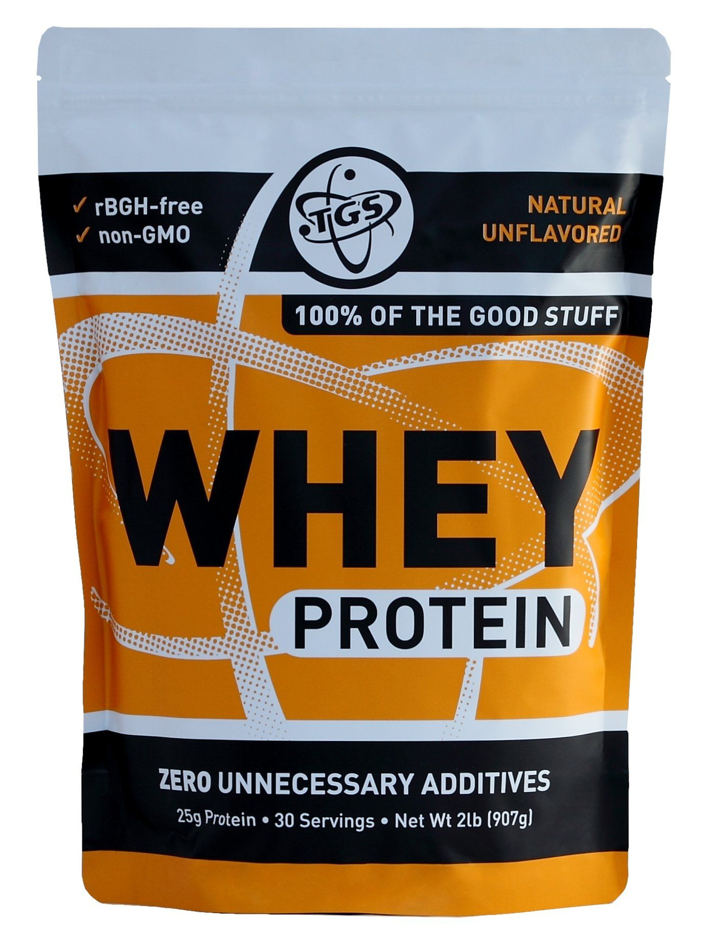TGS Nutrition 100 Whey Protein, Natural Unflavored, 2