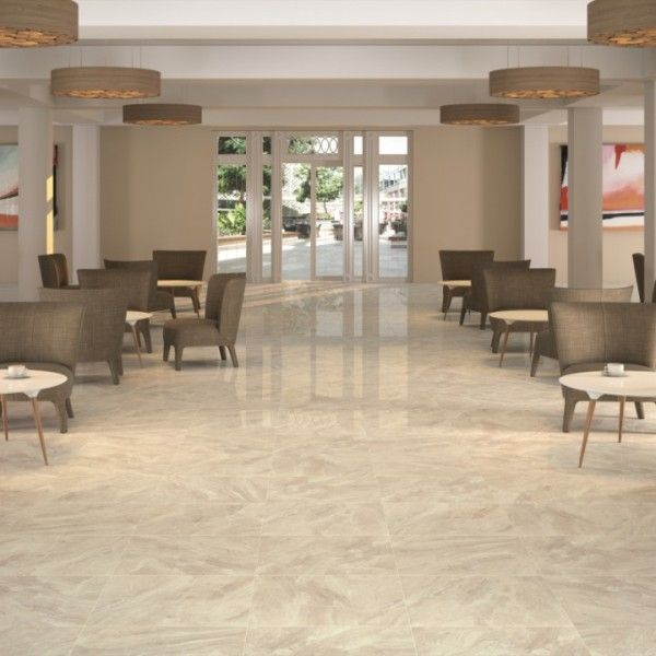 Nairobi 1 High Gloss Floor Tiles Cream Porcelain