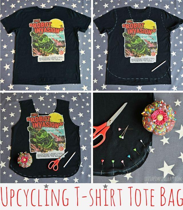 DIY | upcycling t-shirt einkaufsbeutel - luzia pimpinella