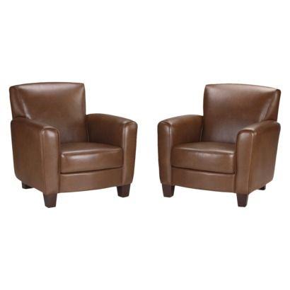 Threshold™ Nolan Bonded Leather Club Chair U2013 Camel (2 Pack