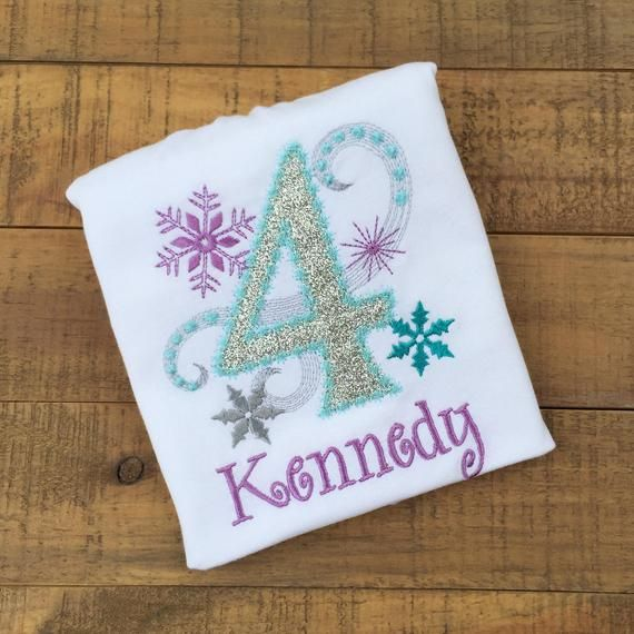 Frozen Birthday Shirt / Girls First Birthday Outfits / Snowflake Birthday Shirt / Elsa Anna Birthday Shirt / Winter Birthday Shirt #birthdayoutfit