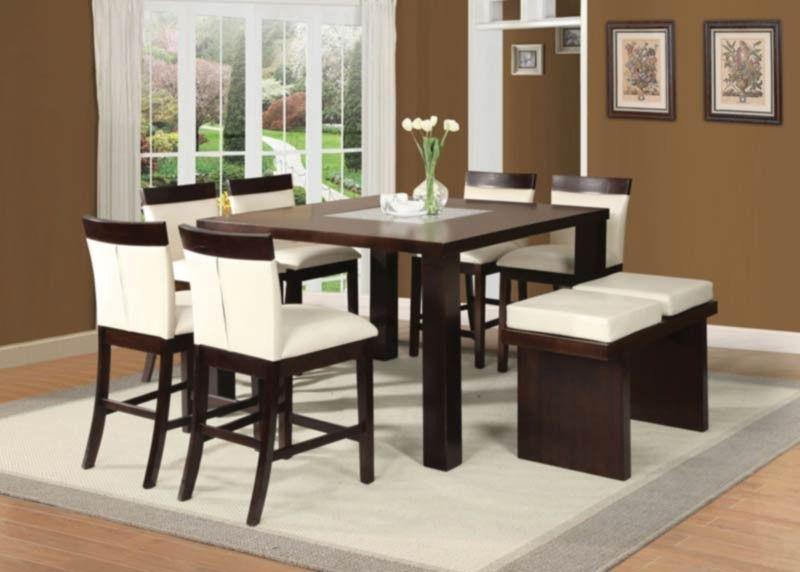 acme furniture - keelin 8 piece counter height dining table set in, Esstisch ideennn