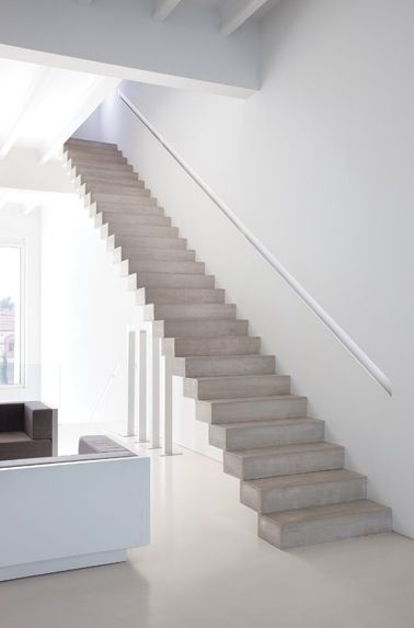 Best Simple Concrete Staircase Inside The Renovation Addition 400 x 300