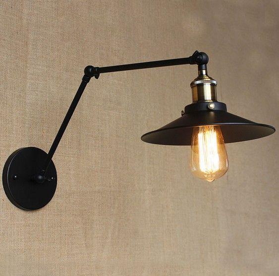 Loft Style Decorative Edison Wall Sconce Bedside Wall Lamp ...