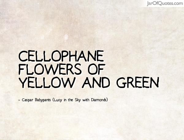 Cellophane flowers of yellow and green caspar babypants lucy in cellophane flowers of yellow and green caspar babypants lucy in the sky with diamonds mightylinksfo