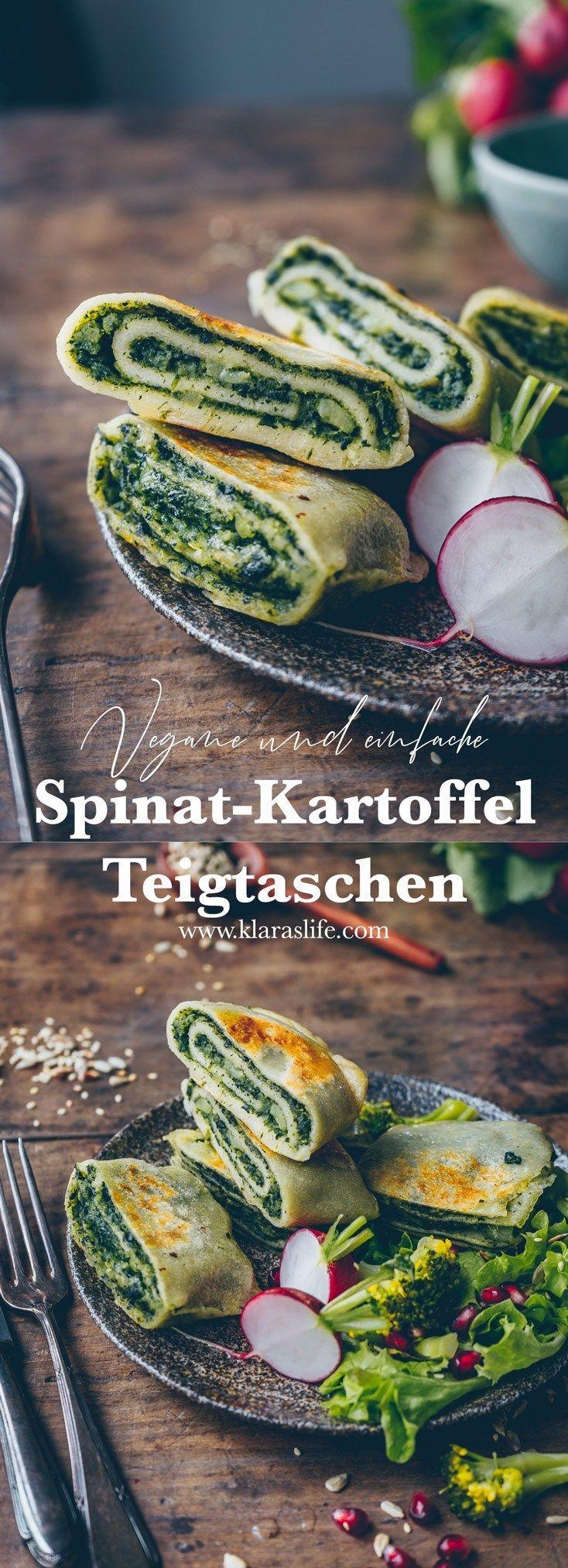 Spinat-Kartoffel-Teigtaschen (Maultaschen) - Klara`s Life