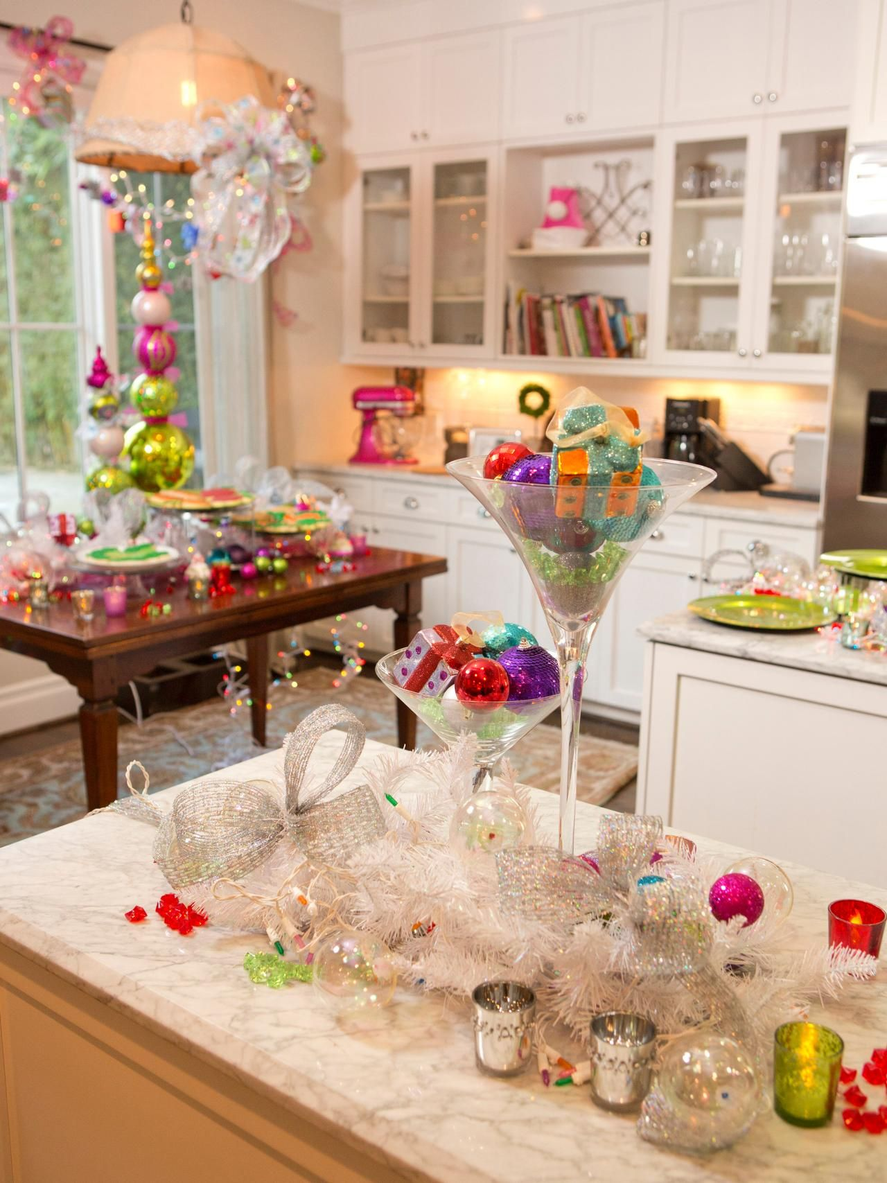 This Colorful Kitchen Display Is From Haylie Duffs Party Preparations,
