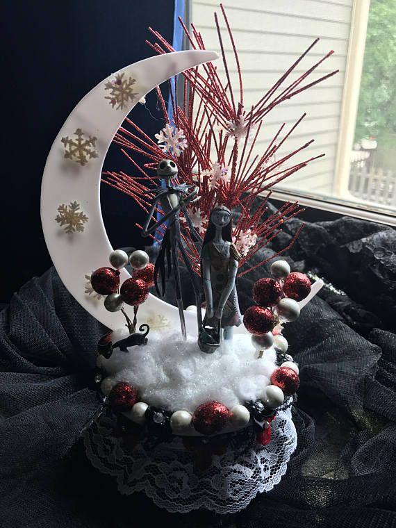 Nightmare Before Christmas Wedding Cake Topper Ornament