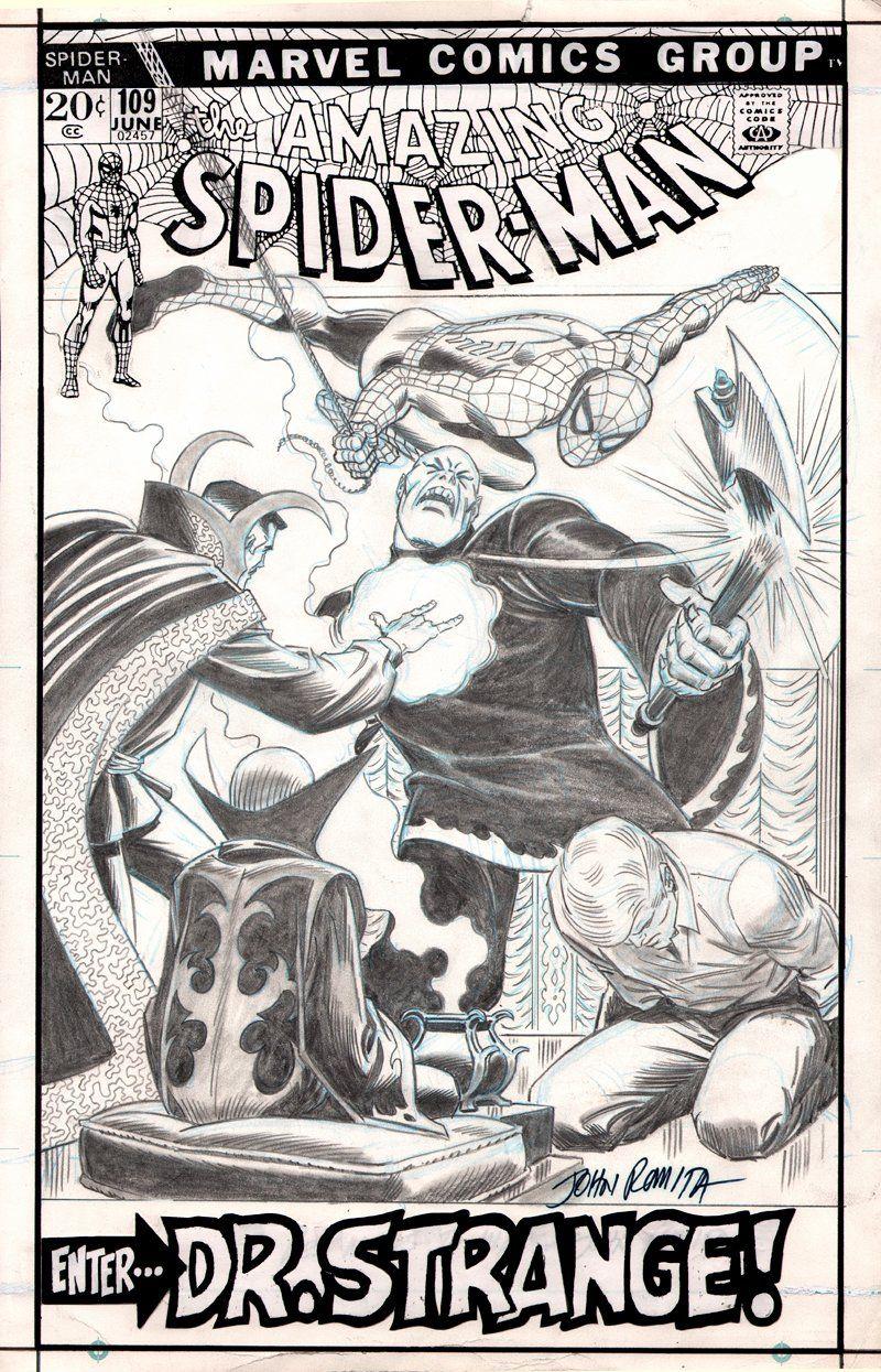 John persons comics for sale - Comic Art For Sale From Romitaman Original Art Amazing Spider Man 109 Un