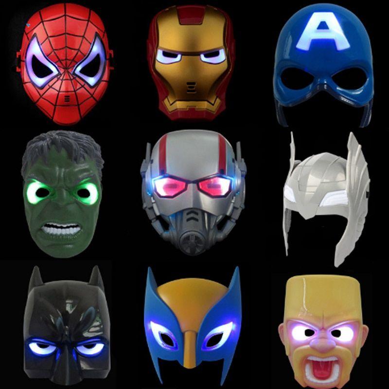 Party Led light Captain America Avengers Mask for children Kids Sound Effect