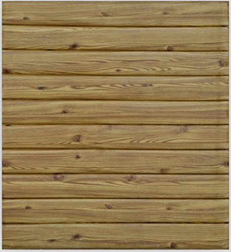 10 Pieces 3d Vintage Wood Panel Pattern Wall Stickers Self Adhesive Peel Stick Wallpaper For Home Decor 27 X 30 Eac Stick On Wood Wall Wood Vintage Wood