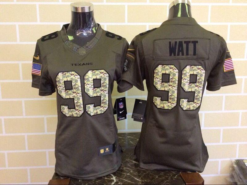 info for 63793 6d24e Womens Houston Texans 99 J. J. Watt Green Nike Salute To ...