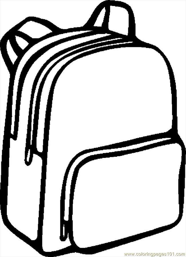 Coloring Pages Backpack 06 Education Gt School Free Printable