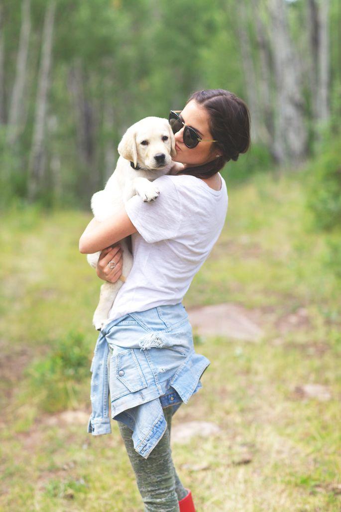 Rachel Parcell X Nordstrom Press Event Labrador Retriever