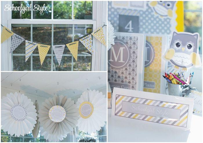 Yellow Classroom Decor : Yellow gray owls classroom theme and decor ~classroom decor by