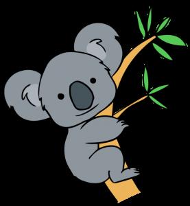 Free Clip Art Koala Forest Animals Koala Drawing Koala Illustration Cute Animal Drawings