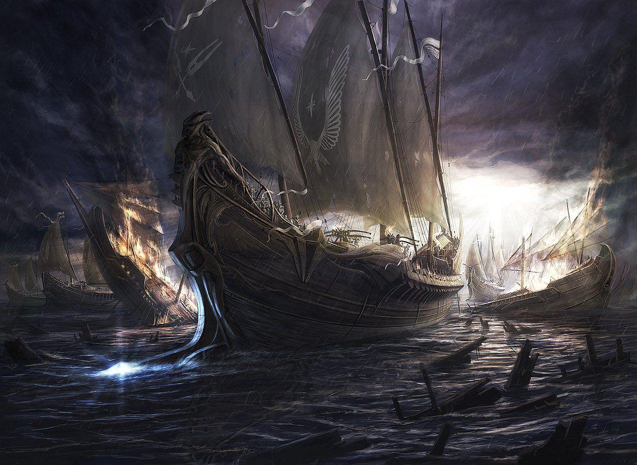 Fantasy Navy Sailor Art