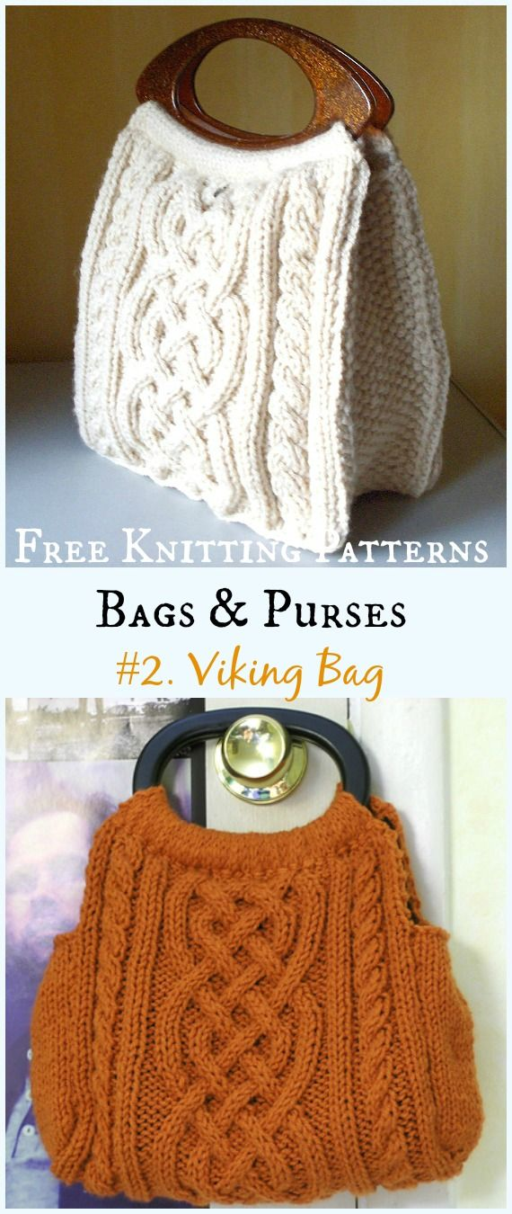 Bags & Purses Free Knitting Patterns | Knitting patterns, Purse and ...