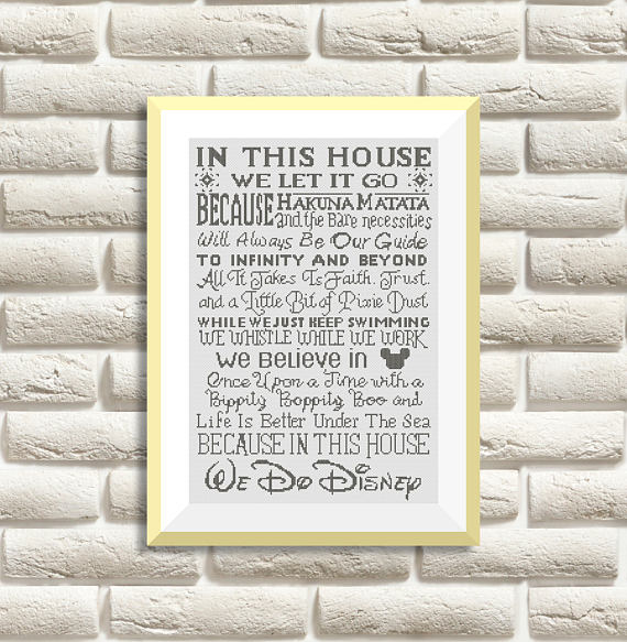 BOGO FREE! Disney Cross Stitch Patterns, Needlecraft