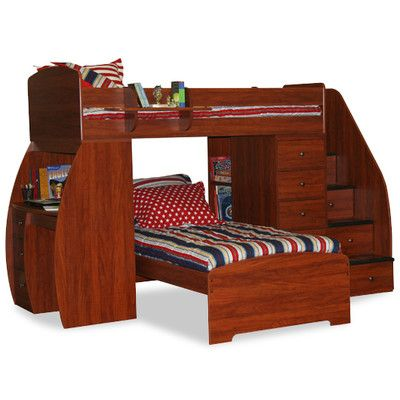 Charmant Berg Sierra Twin Over Twin L Shaped Bunk Bed With Desk And Stairs U0026 Reviews  | Wayfair