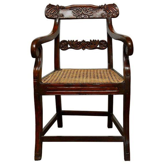 19th Century Anglo Indian Rosewood Armchair von ErinLaneEstate