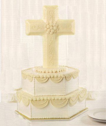 christian wedding cakes unique cake toppers with christian cross wedding cake 12827