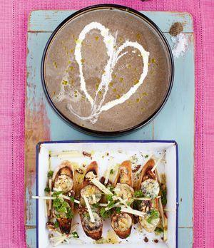 Champignonsuppe und Crostini nach Jamie Oliver: ein Leckerbissen!