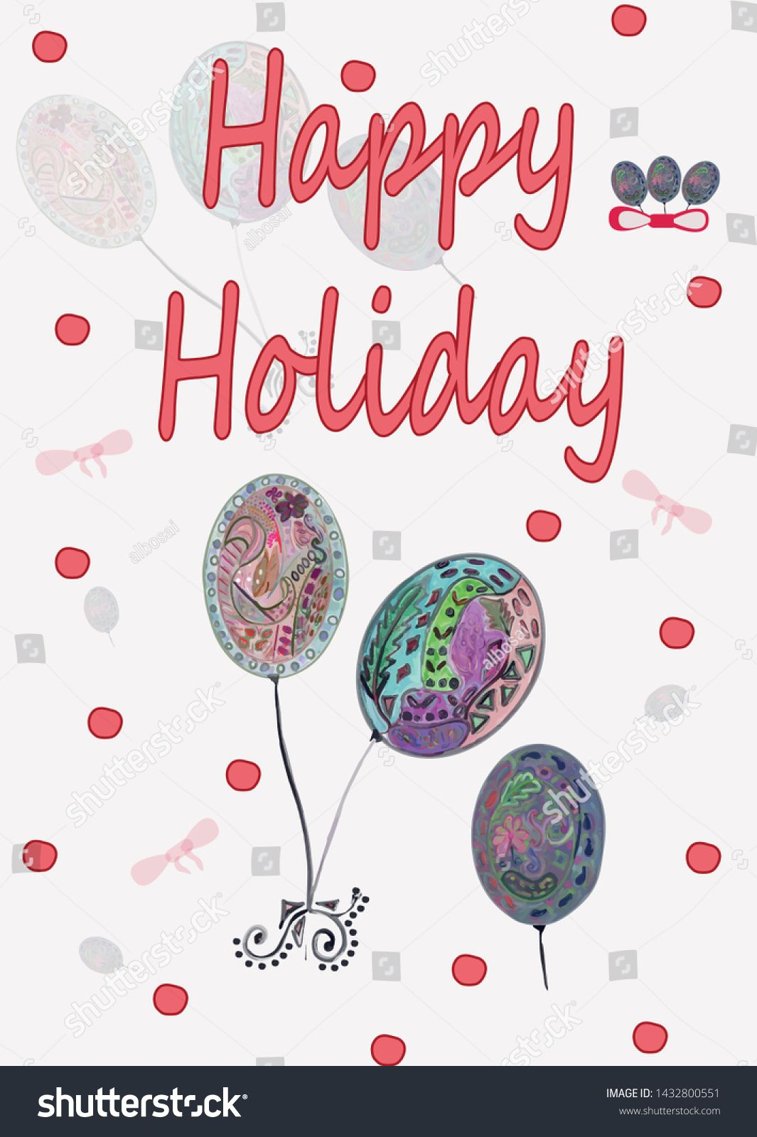 Happy Holiday Vector Inscription Bright Colored Balls On A Light Background Ad Aff Vector Inscription Happy Holiday In 2020 Holiday Vectors Happy Holidays Color