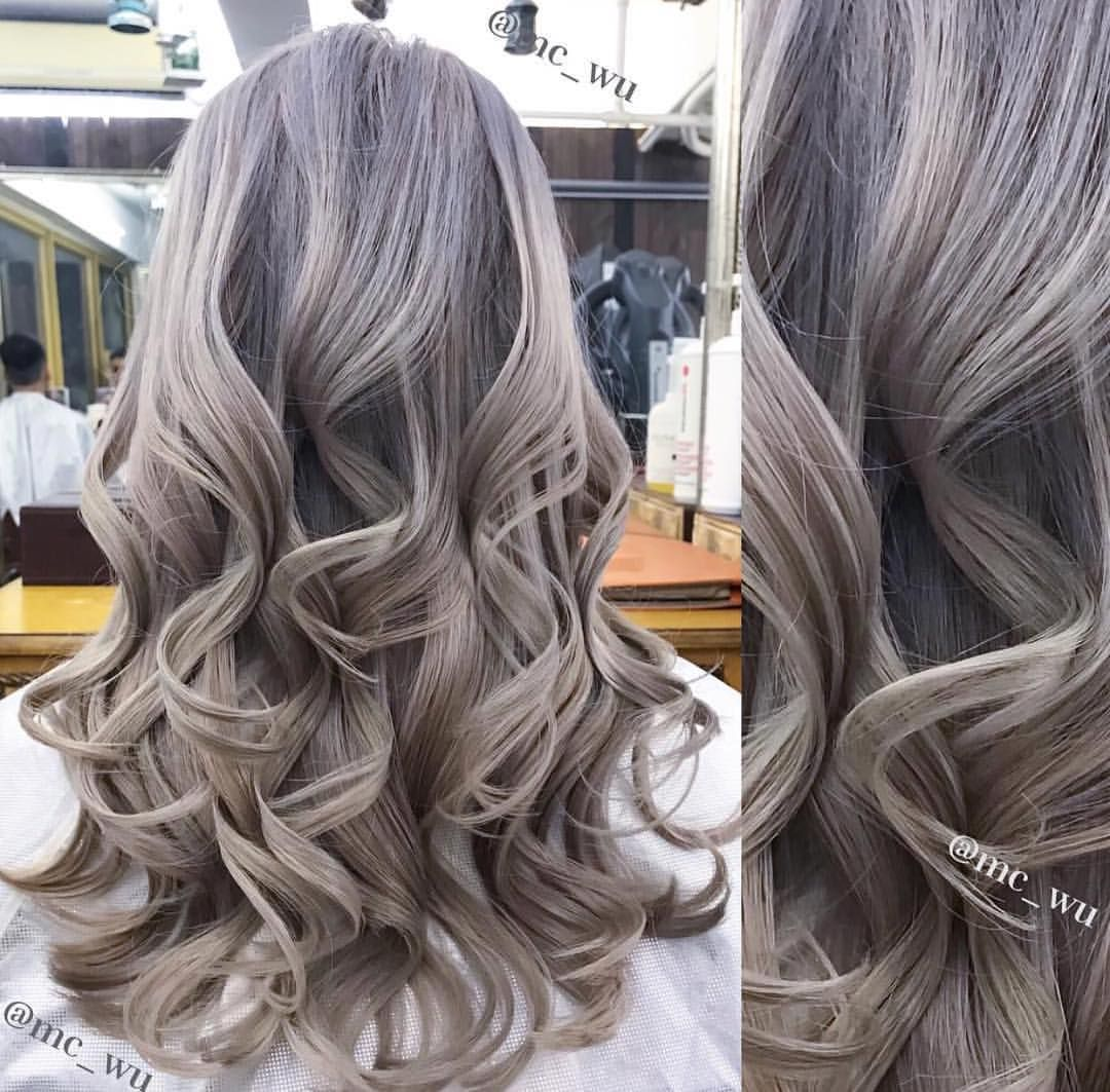Light Ash Blonde Colored And Curled By Mc Wu Hair Would You Get