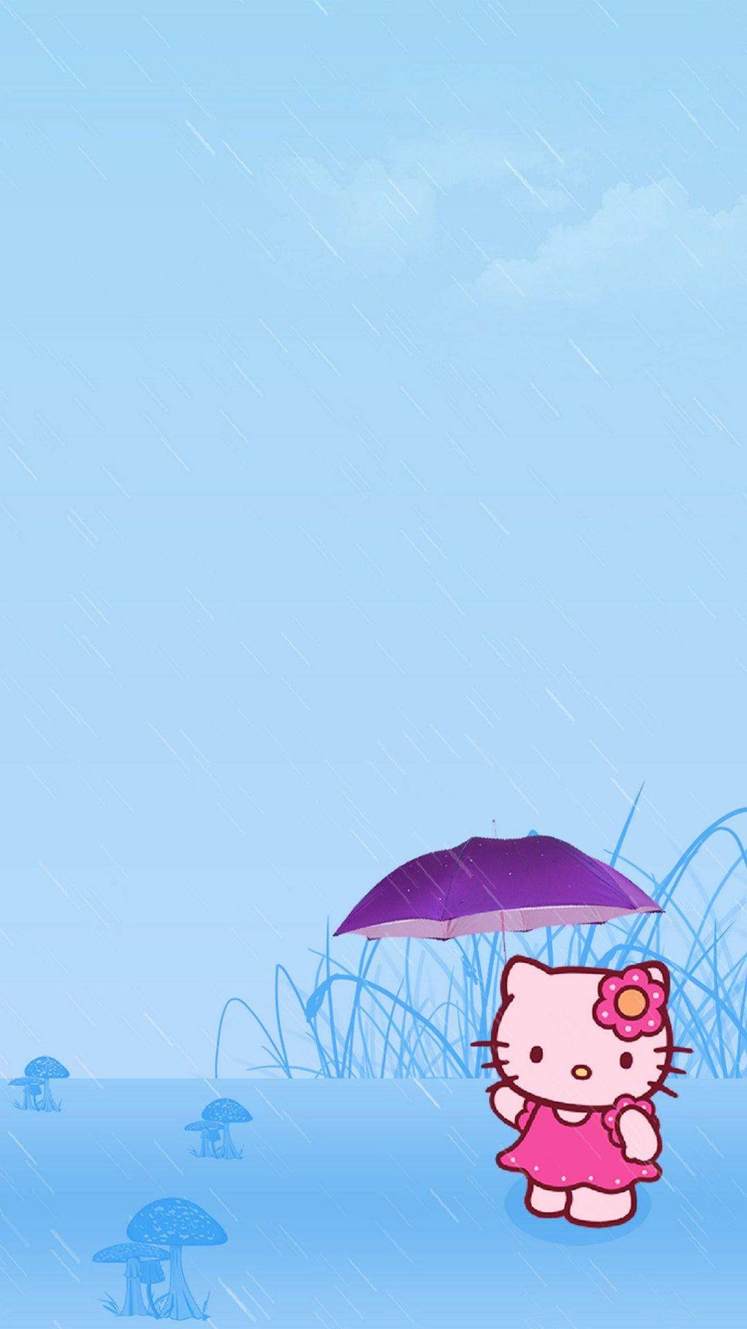Cute Hello Kity Umbrella Phone Wallpaper ~ Fisoloji