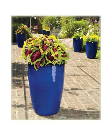 Extra Large Outdoor Planters Blue Tall Egg Pot Extra Large 89 95 Range Apta Carnival Planters Outdoor Planters Large Outdoor Planters Planters