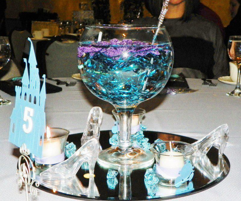 Cinderella wedding centerpieces decorations