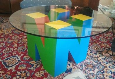 N64 Logo Table Nerd Room Geek Decor Game Room